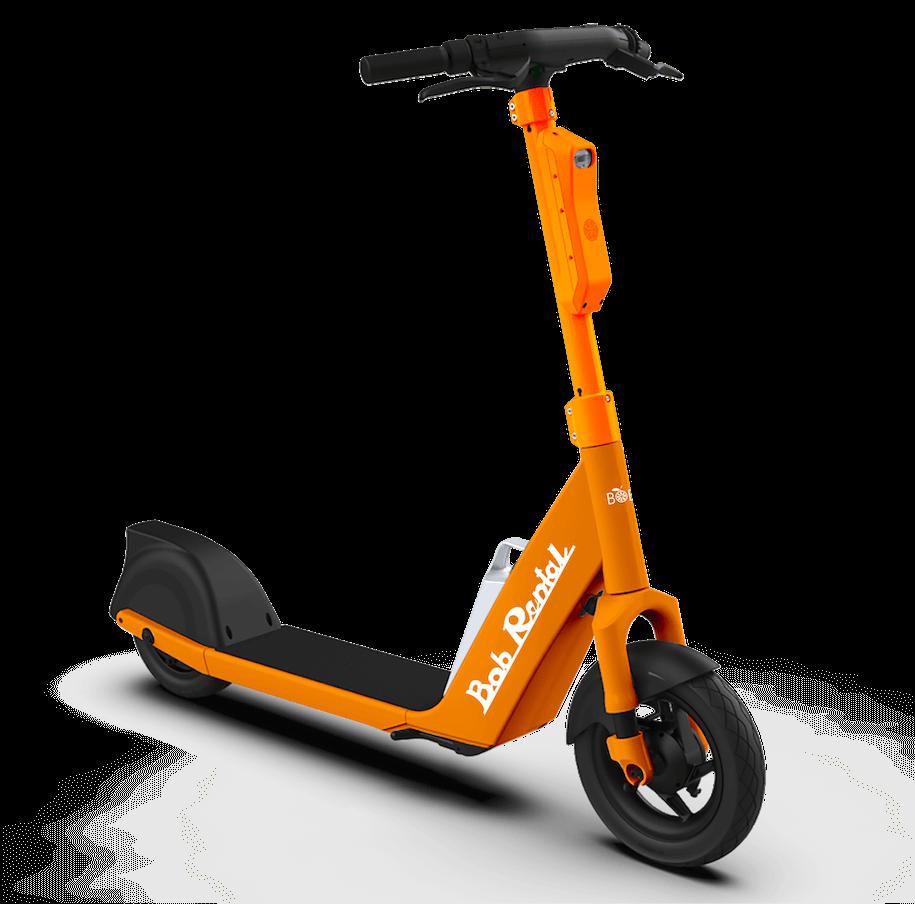 Lime defender scooter illustration.